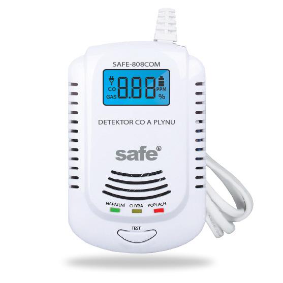 Kombinovaný detektor CO a zemního plynu SAFE-808 COM