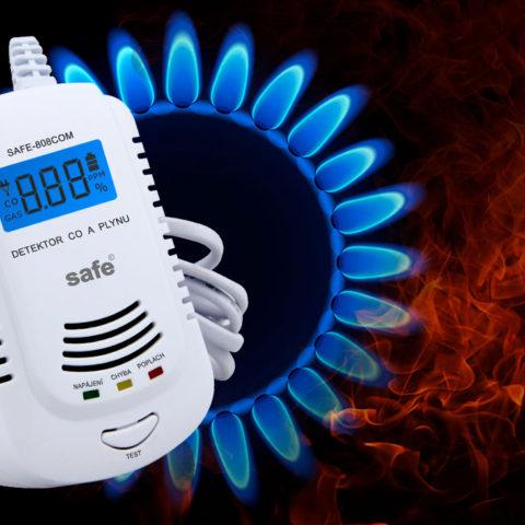 Detektor CO a zemního plynu SAFE-808 COM
